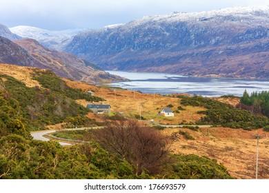 Scottish Glen and loch