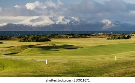 Scottish golf  course