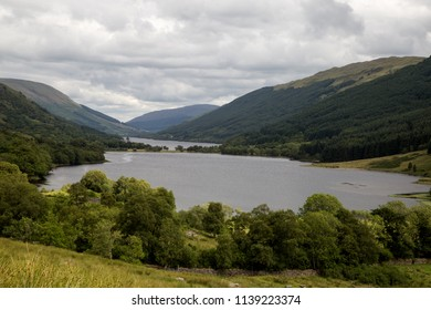 Scottish Highland lochs on an overcast summer afternoon