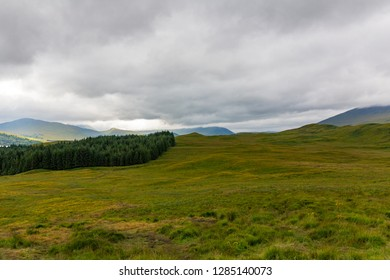 Scottish highlands landscape at Loch Tulla in Scotland, UK.