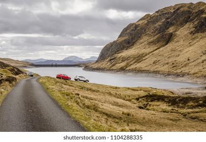 Scottish Landscape around Lochan na Lairige