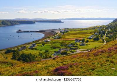Scottish landscapes: Uig at Inner Hebrides, Isle of Skye, Scotland, UK