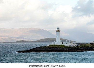 Scottish Lighthouse on the Shores of the Isle of Mull