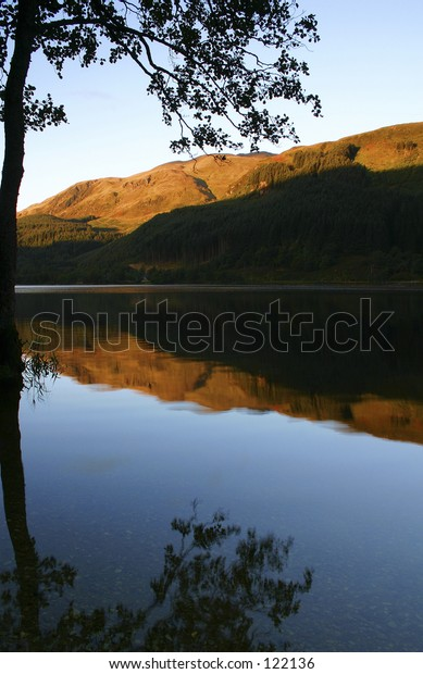 Scottish Loch at dawn