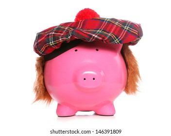 scottish piggy bank studio cutout