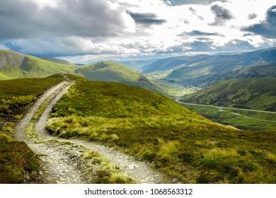 Scottish rural landscape in Cairngorm Mountains. Royal Deeside, Aberdeenshire, Scotland, UK.