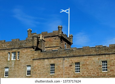 Scottish Saltire flying at Culzean Castle Ayrshire Scotland