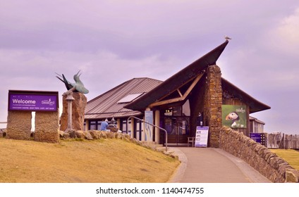 Scottish Seabird Centre, popular tourist attraction and museum in the Seaside town of North Berwick, East Lothian. Scotland UK. jULY 2018