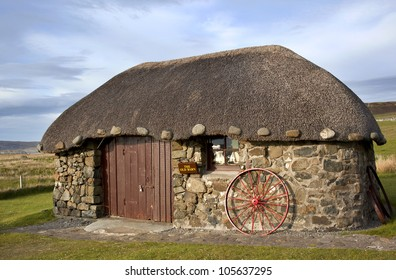 Scottish Thatched Cottages, Isle of Skye, Scotland