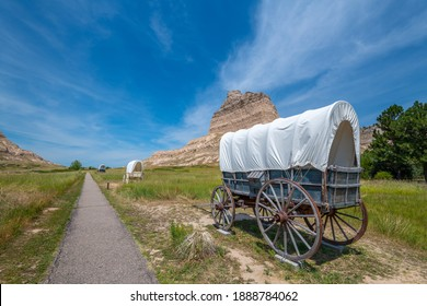 Scotts Bluff National Monument located west of the City of Gering in western Nebraska, United States.