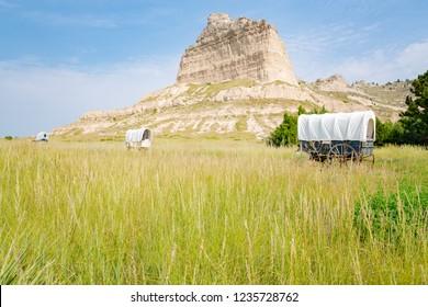 Scotts Bluff National Monument in Nebraska, USA
