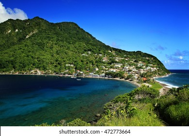 Scotts head fishing village in Dominica, Caribbean Islands