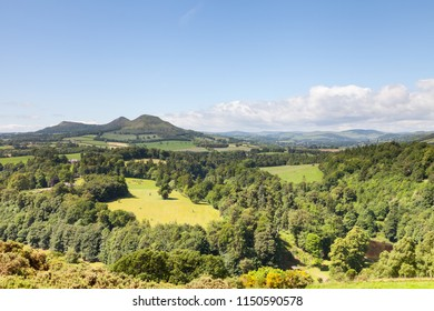 Scott's View.  Scott's View is a scenic viewpoint overlooking the valley of the River Tweed in the Scottish Borders.