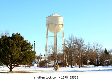 Scottsbluff City Water Towet in a crisp Winter's day.