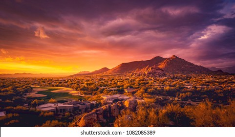 Scottsdale Arizona desert landscape,USA