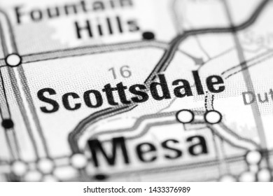 Scottsdale. Arizona. USA on a map