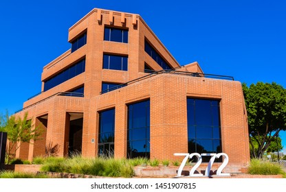 Scottsdale, AZ - Nov. 5, 2016: Modern Office building located on 7272 E. Indian School Road, Scottsdale, Arizona.