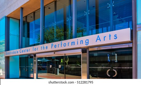 Scottsdale, AZ - Nov. 5, 2016: Scottsdale Center For The Performing Arts.  It is a 853-seat theater for artistic performances in a range of genres.