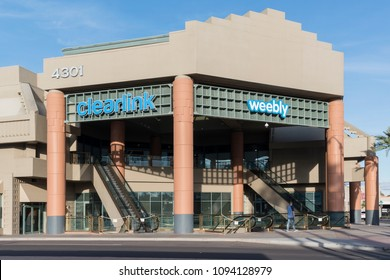 Scottsdale, AZ, USA - March 11, 2018: Weebly in Scottsale, AZ. It is a platform for e-commerce, websites and integrated marketing for creative entrepreneurs with more than 50 million clients.