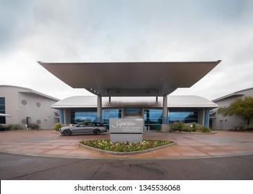 Scottsdale, Az/USA 2.21.19  Scottsdale Airport, Signature Flight Support, general aviation ground handling at Scottsdale Airport.
