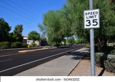 Scottsdale, USA - july 7 2016 : a road in the city center