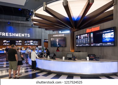 Scottsdale,Az/USA - 10.30.18  Harkins Theatres is the largest family owned theatre chain in the country and the premier movie exhibitor of the Western U.S. operating more than 400 screens,