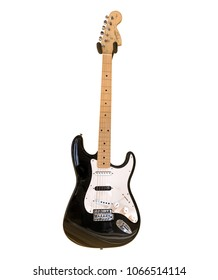 Scottsdale,Az/USA - 4.10.2018:  Squier Affinity series electric guitar by Fender are some of the most popular instruments sold online and in guitar shops around the world