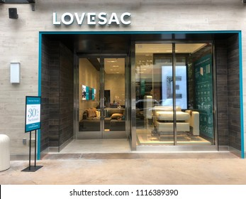 Scottsdale,Az/USA - 6.15.18: Lovesac, Reporting sales of $101.8 million for the fiscal year ending February 4, 2018. The Furniture Company Announces $42M IPO.Lovesac's Nasdaq symbol will be LOVE.