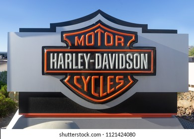 Scottsdale,AZ/USA - 6.26.18: Harley-Davidson is set to move some of its motorcycle production out of the US as a result of President Trump's burgeoning trade war with the EU (Bloomberg).