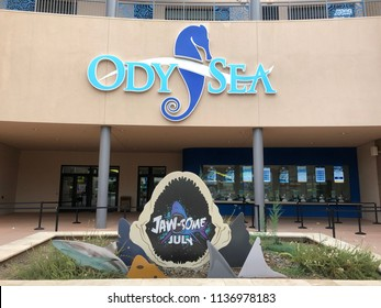 Scottsdale,AZ/USA - 7.15.18: OdySea Aquarium in Scottsdale, AZ is a marine aquarium, the largest aquarium in the Southwest. There are over 30,000 animals and 500 different species in 50 exhibits.