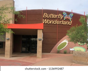 Scottsdale,Az/USA - 7.15.2018: Butterfly Wonderland, hosts the largest butterfly conservatory in the country with over 3,000 butterflies.