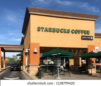 Scottsdale,Az/USA- 7.19.18:  Starbucks Corporation is an American coffee company and coffeehouse chain. Starbucks was founded in Seattle, Washington in 1971.