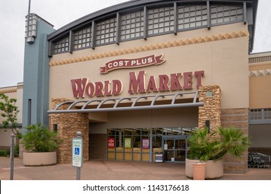 Scottsdale,Az/USA - 7.20.18: Cost Plus World Market is a chain of specialty import retail stores, it opened it's first store in1958  in San Francisco's famed Fisherman's Wharf.