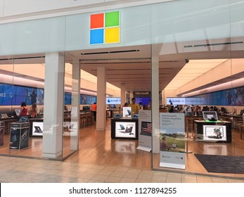 Scottsdale,Az/USA - 7.4.18:The Microsoft retail presence has grown rapidly since 2009, comprising more than 100 stores in the U.S., Canada and Australia.