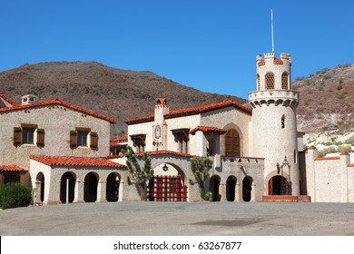 Scotty's Castle in Death Valley in the USA. The magnificent palace ensemble