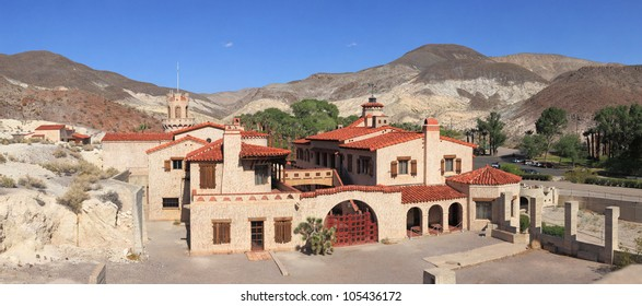 Scotty's Castle is a two-story Mission Revival and Spanish Colonial Revival style villa located in the Grapevine Mountains of northern Death Valley in Death Valley National Park, California, U.S.