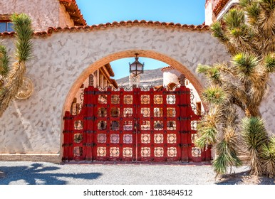 Scotty's Castle-Death Valley-California State, April 20 2015 : Scotty's Castle is a two-story Mission Revival and Spanish Colonial Revival style villa and detached cookhouse.