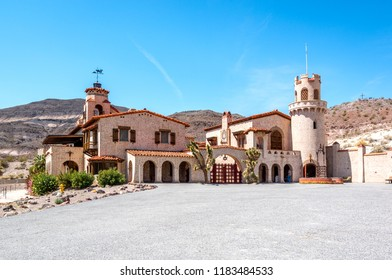Scotty's Castle-Death Valley-California State, April 20 2015 : Scotty's Castle is a two-story Mission Revival and Spanish Colonial Revival style villa located in the Grapevine Mountains.