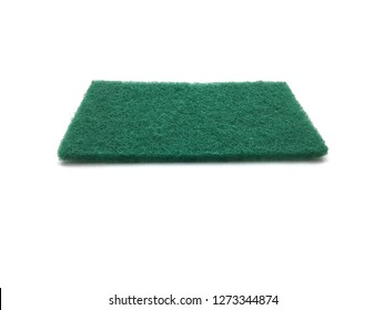 Scouring pad on white background.