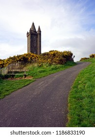 Scrabo Tower is a 19th-century lookout tower that stands on Scrabo Hill near Newtownards in county Down, Northern Ireland