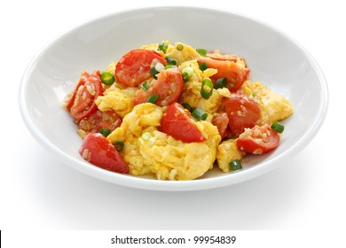 scrambled eggs with tomatoes, chinese food