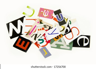 A lot of scrambled letters