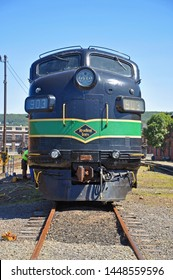SCRANTON, PA, USA - AUG 7, 2010: Reading Railroad RDG 902 and 903 are a EMD FP7A diesel locomotives in Steamtown National Historic Site in Scranton, Pennsylvania, USA.