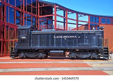 SCRANTON, PA, USA - AUG 7, 2010: Delaware, Lackawanna & Western Railroad DLW 426 is a EMD SC diesel locomotive in Steamtown National Historic Site in Scranton, Pennsylvania, USA.