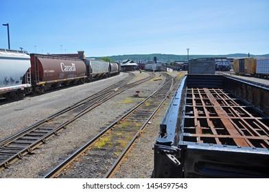 SCRANTON, PA, USA - AUG 7, 2010: Trains in Steamtown National Historic Site in Scranton, Pennsylvania, USA.