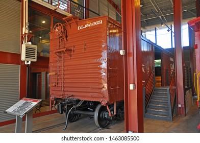 SCRANTON, PA, USA - AUG 7, 2010: Freight Car in Steamtown National Historic Site in Scranton, Pennsylvania, USA.