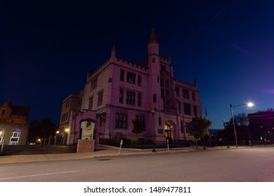 Scranton, PA, USA, August 24, 2019: Illustrative editorial image of Scranton School District Administration Building in downtown Scranton, PA