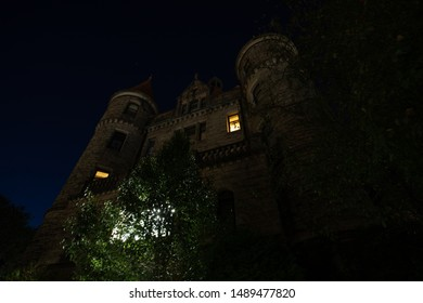 Scranton, PA, USA, August 24, 2019: Illustrative editorial image of Finch Towers apartment building in downtown Scranton built in 1899 in the Renaissance revival style.