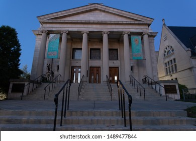 Scranton, PA, USA, August 24, 2019: Illustrative editorial image of Lackawanna County Children's Library in dowtown Scranton, PA.