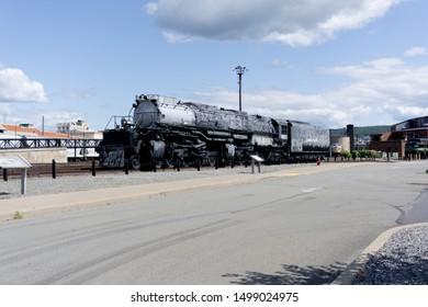 Scranton, Pennsylvania US, 9/5/19. Vintage train at Steamtown Historic Site.